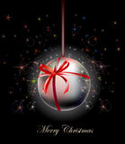 Christmas background with ball Royalty Free Stock Photo
