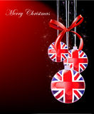Christmas background with ball. S, bow,  snowflackes and sparcks Stock Image