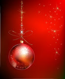Christmas background with ball Stock Photo