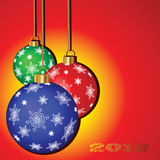 Christmas background with balloons Stock Images