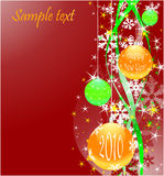 Christmas  background with balls. Image with text area Vector Illustration