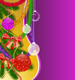 Christmas  background with balls. Image with text area Stock Illustration