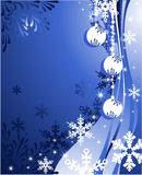 Christmas background with balls. Christmas background  blue color  with snowflakes and balls Stock Image