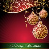 Christmas background with balls. Ball christmas new holiday card red winter vector illustration