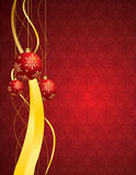 Christmas background with balls Stock Photo