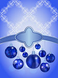 Christmas background with balls. And snowflakes and place for your text Stock Photo