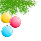 Christmas Background with Balls. The Christmas Background with Balls stock illustration