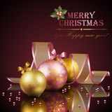 Christmas background with balls. Vector illustration Stock Image