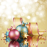 Christmas background with balls. Vector illustration Royalty Free Stock Image