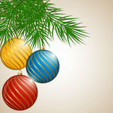 Christmas Background with Balls. Stock Photography