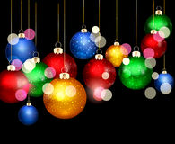 Christmas background with balls Royalty Free Stock Images