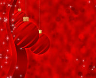 Christmas background with balls. Christmas background with Christmas toys in red Stock Photo