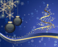 Christmas background . Christmas background with balls Stock Images