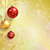 Christmas background with balls Royalty Free Stock Photos