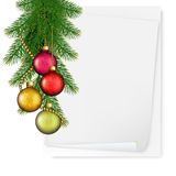 Christmas background with balls and branches Royalty Free Stock Photo