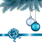 Christmas background with balls and branches. Royalty Free Stock Photos