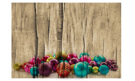 Christmas background with balls and decorations Royalty Free Stock Images
