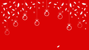Christmas background with balls and feathers Red christmas background Vector Banner Royalty Free Stock Image