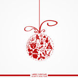 Christmas background. With balls and icons typical of the feast Stock Images