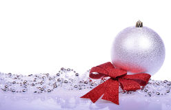Christmas background with balls isolated Stock Image