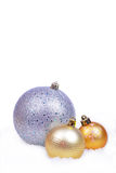 Christmas background with balls isolated Stock Photo