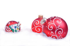 Christmas background with balls isolated Stock Photography