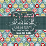Christmas background with balls and label for text royalty free stock image