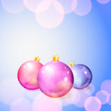 Christmas background with balls and lights Royalty Free Stock Photo