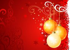 Christmas background /  balls and ornament Stock Photos
