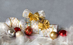 Christmas background with  balls Royalty Free Stock Photography