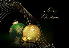 Christmas background with balls . Christmas background with balls and reflection Royalty Free Stock Images