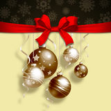 Christmas background with balls Royalty Free Stock Photo