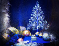 Christmas background with  balls Stock Images