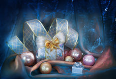 Christmas background with  balls Stock Photography