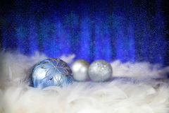 Christmas background with  balls Stock Photos