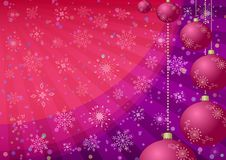 Christmas background with balls and snowflakes Stock Images
