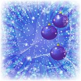 Christmas background with balls and snowflakes Royalty Free Stock Photo