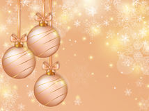 Christmas background with balls. Vector card. Stock Image