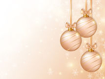 Christmas background with balls. Vector card. Stock Photo