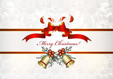 Christmas background  with banner. Christmas vector background  with banner Stock Photos