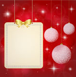 Christmas background. Banner with festive Christma. S balls. Illustration Stock Photography