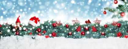 Christmas background, banner. In front of bokeh Stock Image