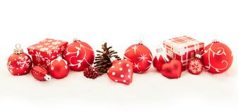 Christmas background banner in red stock photos