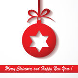 Christmas background with bauble Stock Images