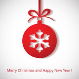 Christmas background with bauble Royalty Free Stock Photo