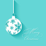 Christmas background with bauble Royalty Free Stock Photography