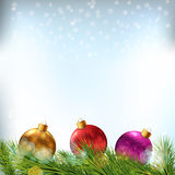 Christmas background with bauble Royalty Free Stock Photos