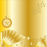 Christmas background with bauble and stars Royalty Free Stock Image