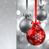 Christmas background with baubles Royalty Free Stock Photos