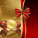 Christmas background with baubles Royalty Free Stock Image